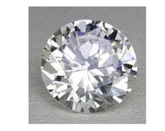 AAA Rated Hundcut Bright Lab Created White Sapphire Corundum Round Gemstone Flame fusion (3-18mm) Niharika Gems