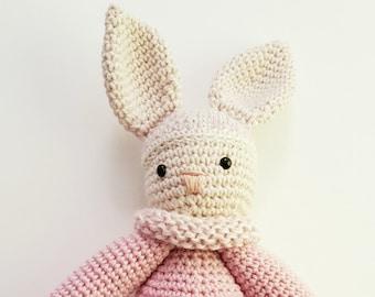Huggy Baby Lovey pink rabbit