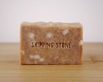 Brickyard : Body + Face Soap — cold process, palm free, handmade soap, all natural, shea soap, swirled artisan bar soap with essential oils