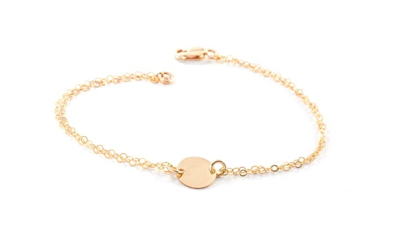 Personalized Gold Anklet, Personalized Ankle Bracelet, Gold-Silver Disc Anklet, Gift For Her, Dainty Initial Bracelet, Ankle Jewelry