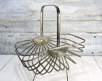 Bread Basket Silver Plated Wire Basket Vintage Fruit Vegetables Basket Vintage Kitchen Bathroom Decor Bedroom Scarfs Glove Wallet Storage