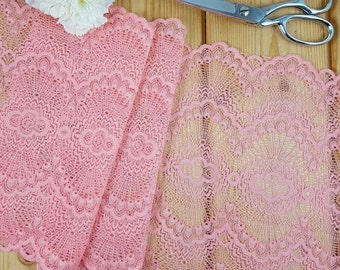 Pink Stretch lace by the meter