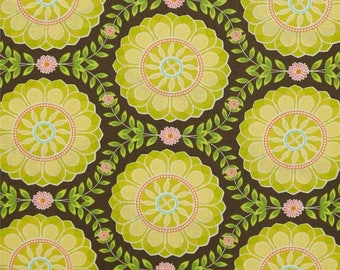 Helen's Garden by Tamara Kate - Dahlia Medallion in Mineral (DC6191-MINE-D) - Michael Miller - 1 Yard