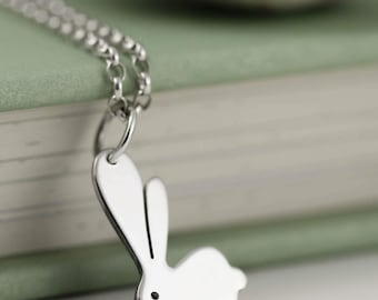 Sterling Silver Bunny Rabbit Necklace - Easter Jewellery - Bunny Gifts - Rabbit Jewellery