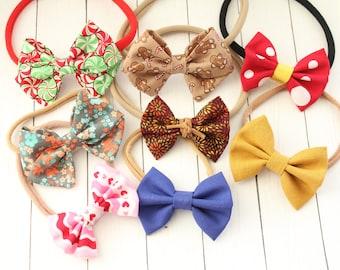 Nylon Headbands Grab Bag, fabric bow headband grab bag, nylon headband grab bag