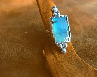 Labradorite Ring, Stone Ring, Silver Ring, Sterling Silver Ring, Labradorite Jewelry, Handmade Ring, Statement Ring, Blue Stone Ring