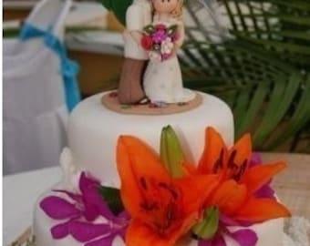 Destination Wedding Cake Topper