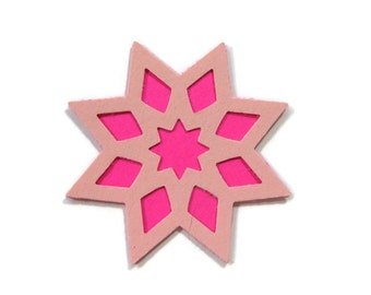 Paper Geometric Star Layered Cut Outs Set of 25