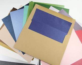 25 - A7 Envelope Liner Paper - Metallic Shimmer or Glitter (Liner Paper Only)