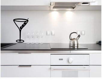 Martini Glass Wall Decal