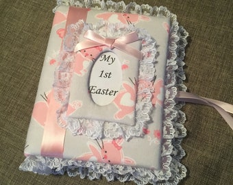 Custom Photo Album Bunny Fabric - Holds 100 4 x6