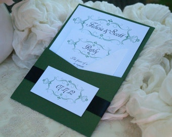 Custom Pocket Wedding Invitations