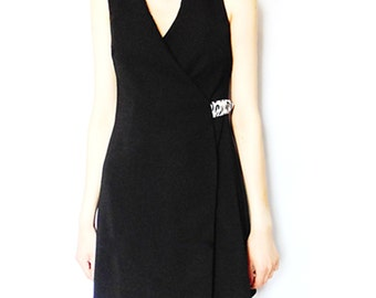 The 'Alba' LBD - Black Wrap, Blazer Dress