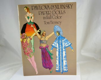 Pavlova & Nijinsky Paper Dolls Book - Tom Tierney 1981 - Excellent