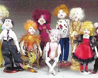 KK706E – The Body Shop  -Basic Body Cloth Doll Making Sewing Pattern, PDF Download