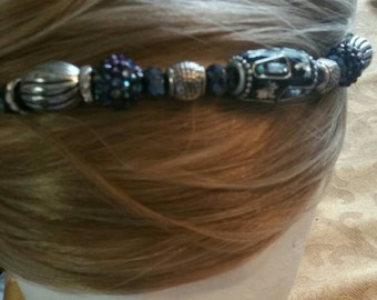 Navy and purple hair jewelry