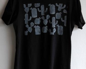 Hand printed organic cotton t-shirt - CACTUS box