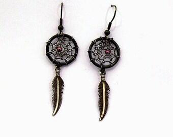 Earrings dream catcher or dream catcher black
