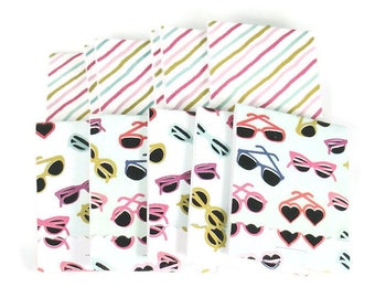 20 Matchbook Notepad  Party Favor  in  Summer Shades