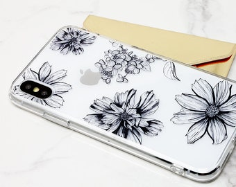 iPhone 8 Plus Case, iPhone X Case, iPhone 8 Case, Rubber Case, iPhone 7 Plus Case, iPhone 7 Case, iPhone 6 Case, Galaxy S8 Case, Cute Flower