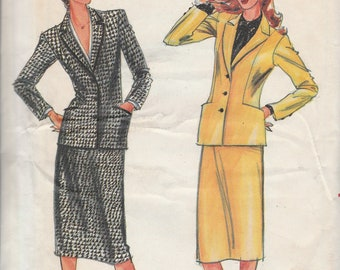 Butterick 6975 Misses' Jacket & Skirt