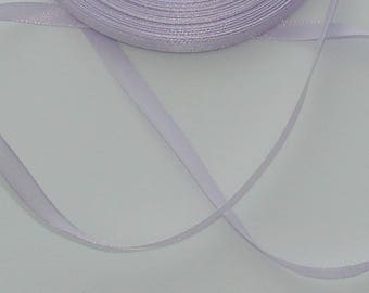 5 m width 6.7 mm Lavender satin ribbon