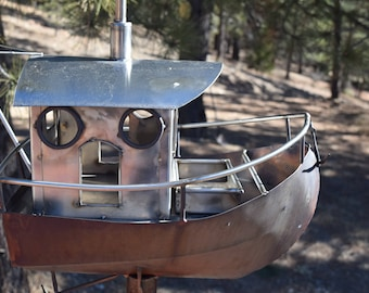 copper and stainless brid feeder trawler