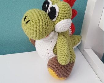Yoshi, Amigurumi Yoshi Mario Bros. Children toy, Yoshi Plush, Mario Bros doll, Yoshi dragon Mario Bros. Kids Gift