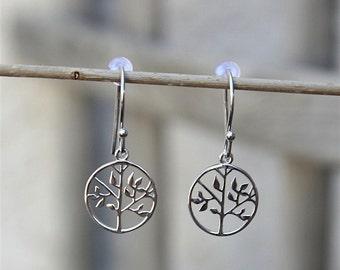 Tree of life earrings 925 sterling silver