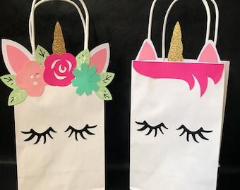 Unicorn Favor Bags - unicorn gift bags - unicorn party favor bags - unicorn party - unicorn party supplies - unicorn birthday - party bags