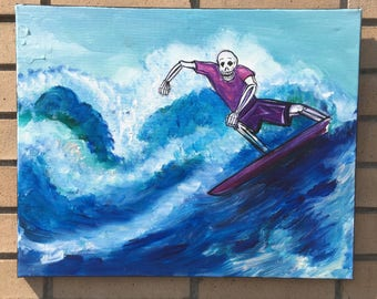Purple Rider Original Painting