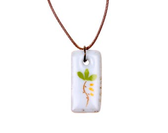 Flower porcelain Necklace