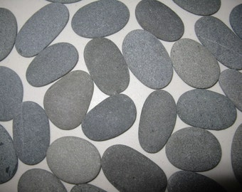 "75 Smooth Beach Stones 2"" to 2 1/2"" Smooth, Flat,Oval Beach Rocks,Wishing Stones,River Rock,Wedding Stones, Wedding Decor"