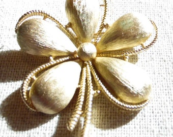 Trifari Frosted Flower Pin/Brooch