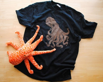 "Realistic Octopus Bleach ""Dyed"" Shirt- Toddler and Youth Sizes"
