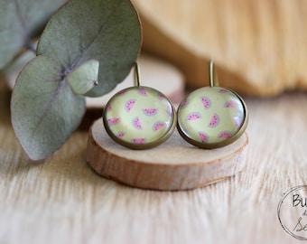 """SUKRIN ••• - pattern """"Watermelon"""" cabochon earrings"""