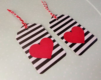 Gift Tags - Valentine's Day Gift Tags - Heart Inspired - Love Gift Tags - Set of 10