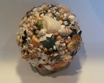 Shell Decorative Sphere