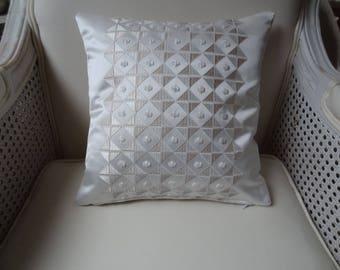Pillow cover / 30cmx 30cm / coordinated fabrics / broken/deco white inner / decorative pillow.