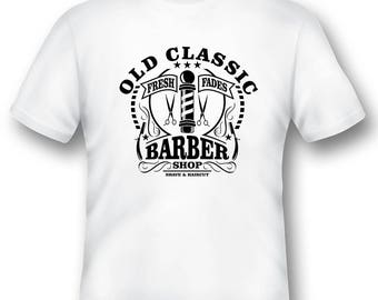 Old Classic Barber shop tee shirt 08012016