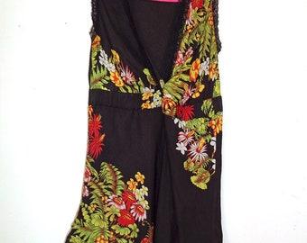 Brazilian Colcci Black Floral Top  XS