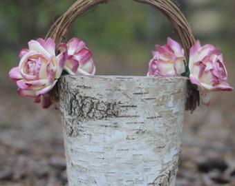 Flower Girl Basket Shabby Chic Rustic Weddings