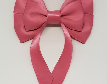 Rose Pink Swallow Tail Hair Bow