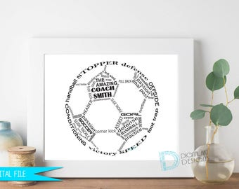 Soccer Coach Gift, Soccer Gifts, Soccer Player Gift, Coaches Gift, Coach Retirement, Soccer Thank You Gift, Personalized Soccer Gift