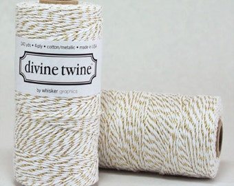 Gold Metallic Divine Twine Baker's Twine 240 Yards