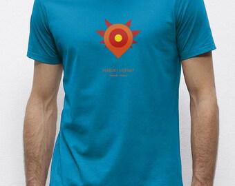 Haruki Hermit Azure | T-shirt | Eco-friendly