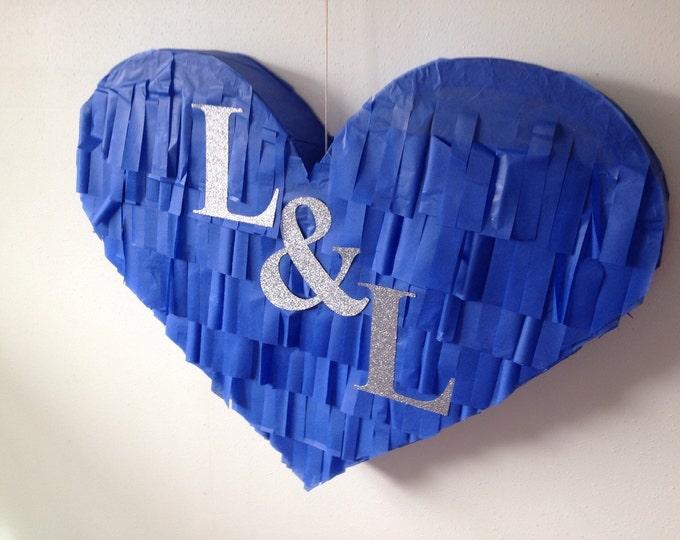 Initials pinata, Wedding Pinata, Monagram Piñata, Personalized Wedding Piñata, Heart Piñata with Custom Initials, Wedding Decor