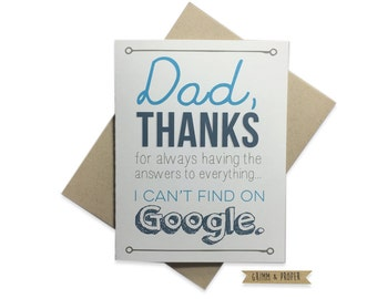 Dad Birthday Card Funny Fathers Day Stepdad Thank You Humor Just Because Family From Daughter Son Kids For