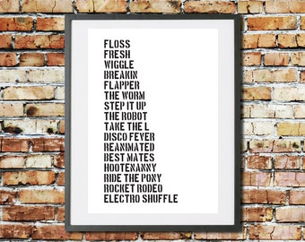 Fortnite - Battle Royale - Gifts - Fortnite Game - Gamer - Prints - Room Decor -Birthday - Xbox - PS4 - Printable - Quotes -  Dance - Floss