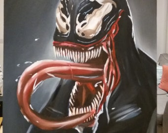 Venom acrylic and oil painting